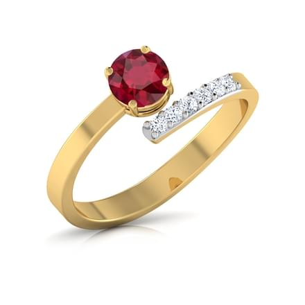 Promise Ruby Crossover Ring