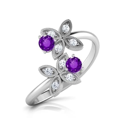 You & I Amethyst Gold Ring