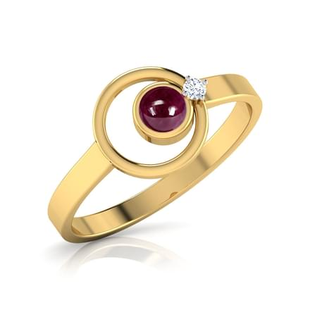Elleptic Ruby Ring