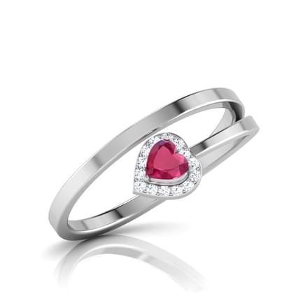 Encrusted Ruby Ring