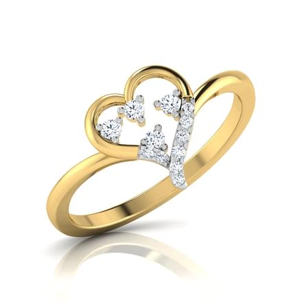 Bejewelled Heart Ring