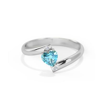 Heart Blue Topaz Ring