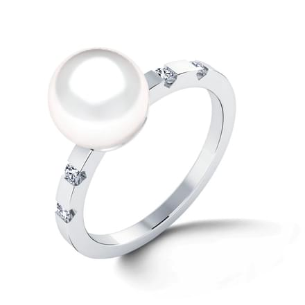 Rapture Pearl & Diamond Ring