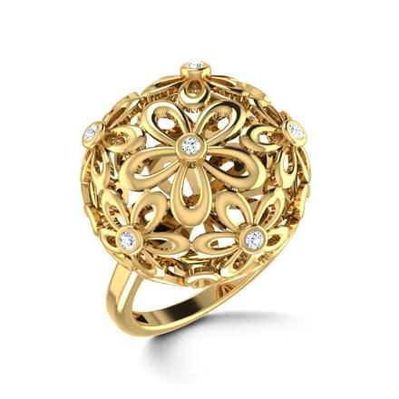 Floral Orb Ring