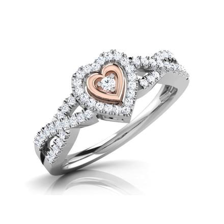 Dual Tone Heart Ring
