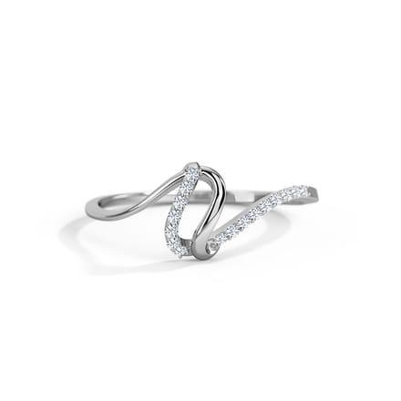 Celestial Wave Platinum Ring
