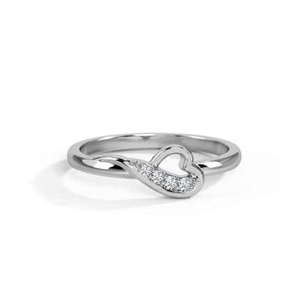 for ring unique engagement platinum rings women flower by