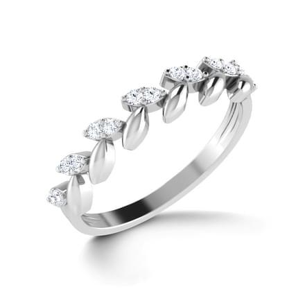 Floral Elegance Platinum Ring