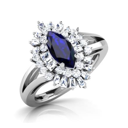 Glitz Blue Sapphire Ring