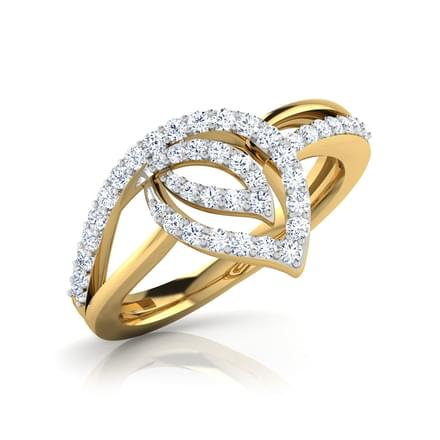 Two Row Leaf  Ring