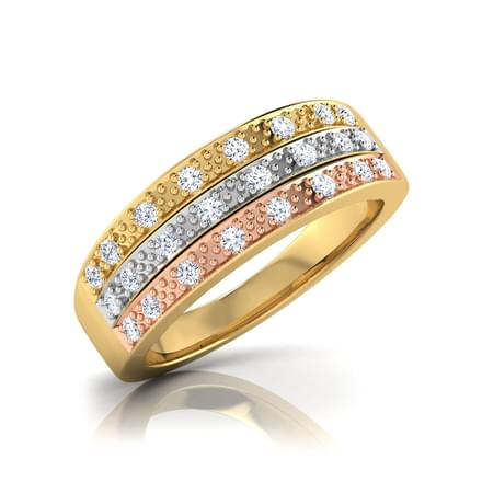 Linda 3-Tone Diamond Band