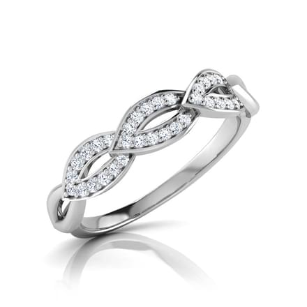 Lamula Leaf Linked Diamond Band