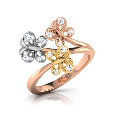 Trio Butterfly Ring