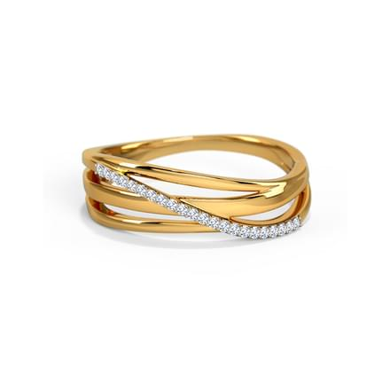Ines Diamond Spectacle Ring