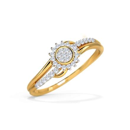 mila cluster wave ring jewellery india online caratlane