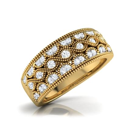 Gracia Border Diamond Band
