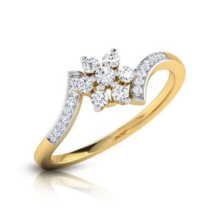 Emma Crossover Floral Ring