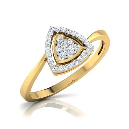 Daisy Triangle Halo Ring