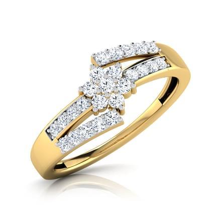 Ziya Crossover Floral Ring