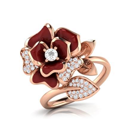Jane Maroon Rose Ring