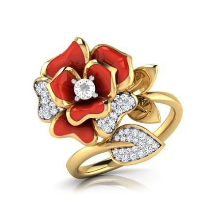 Jane Red Rose Ring