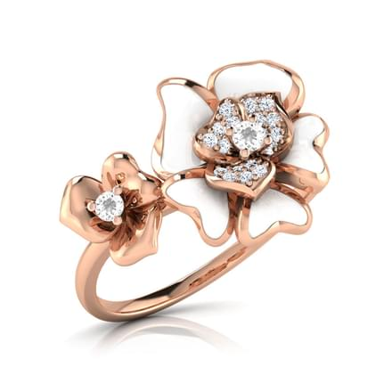 Rosai White Floral Ring