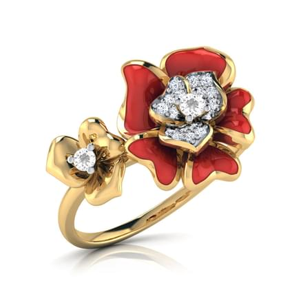Rosai Red Floral Ring