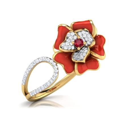 Rosalinda Red Fluro Ring
