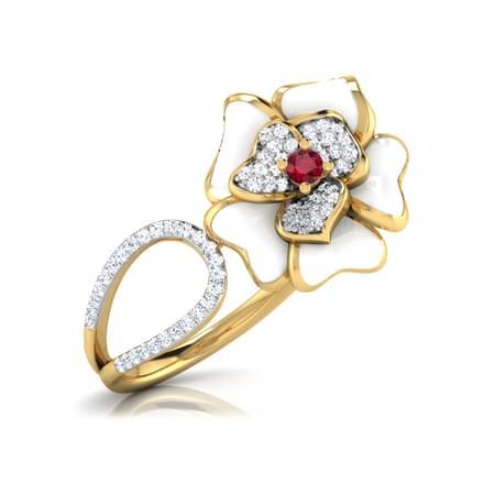 Rosalinda White Fluro Ring