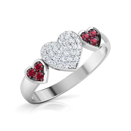 Triplet Heart Ring