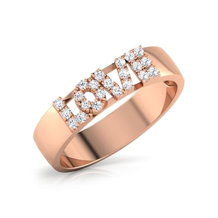 Love Studded Diamond Band