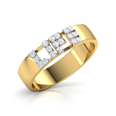 Life Studded Diamond Band