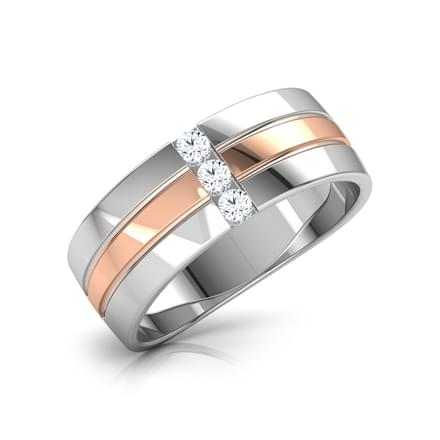 Grooved Diamond Band