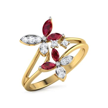 for gold promise ring diamonds amazon women alonea floral exquisite rose com princess wedding dp rings engagement
