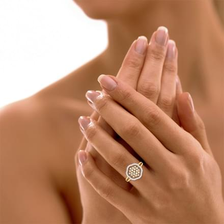 Sparkling Dome Ring