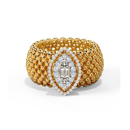 baguette pave gold jewellery rose diamond fj rings cocktail round in pm ring