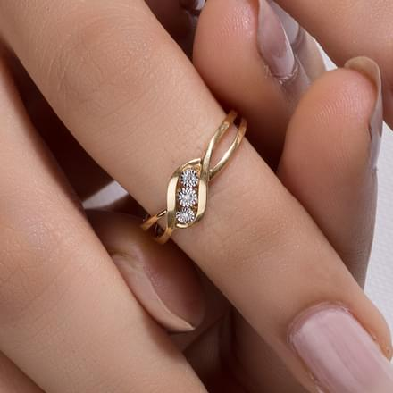 korea korean simple tail engagement stylish finger alphabet female promise and rings gift product joint specials ring little diamond from