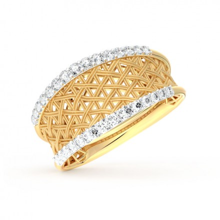 Suave Interlaced Ring