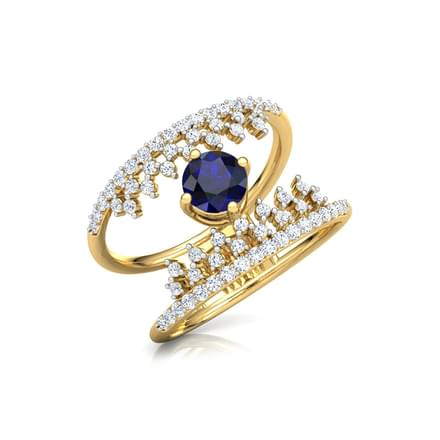 Crown Azure Ring
