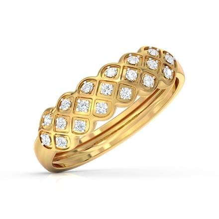 Checkered Braid Ring