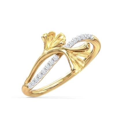 Charming Ginkgo Ring