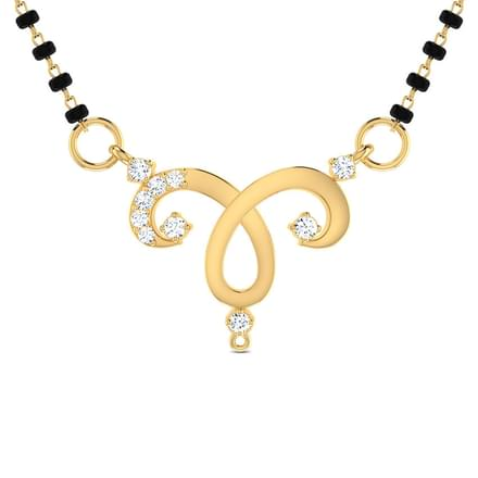 Daivi Curved Mangalsutra