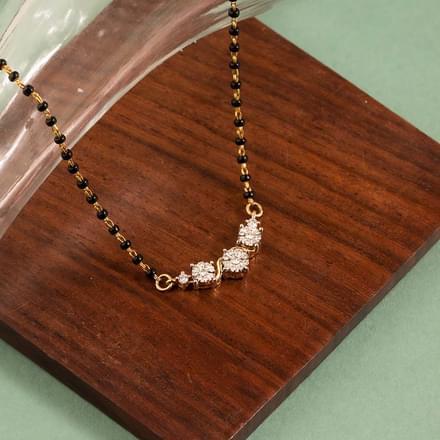 Advika Miracle Plate Diamond Mangalsutra Jewellery India