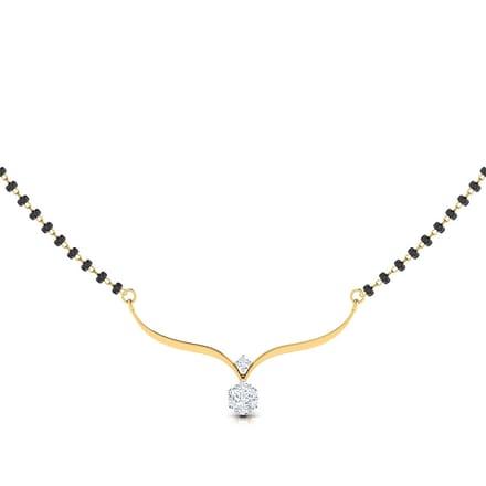 Lavanya diamond mangalsutra jewellery india online caratlane lavanya diamond mangalsutra aloadofball Images