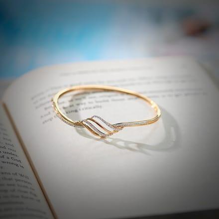 Lorra Curved Bracelet Jewellery India line CaratLane