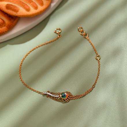 Peacock Feather Bracelet Jewellery India line CaratLane