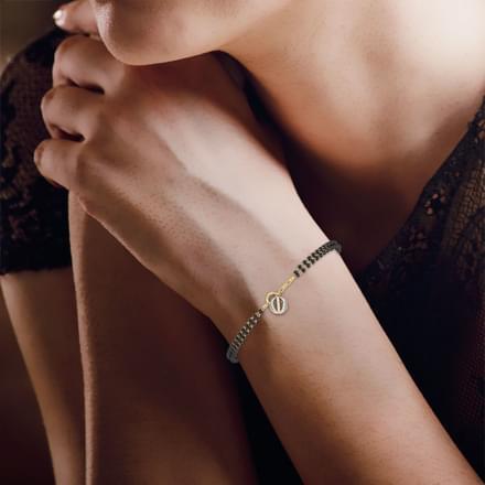 Vibha Mangalsutra Bracelet Jewellery India line CaratLane