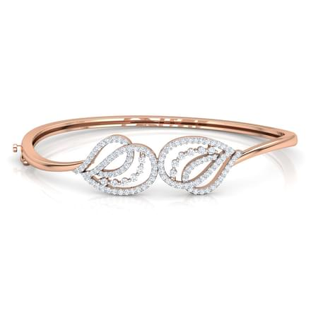 Shell Curve Diamond Bracelet Jewellery India line CaratLane