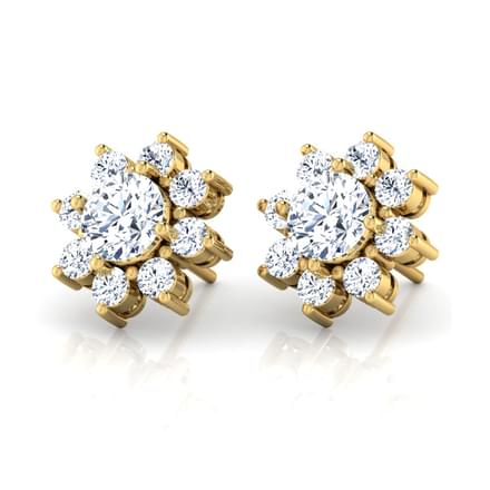 Floral Solitaire Earring Mount
