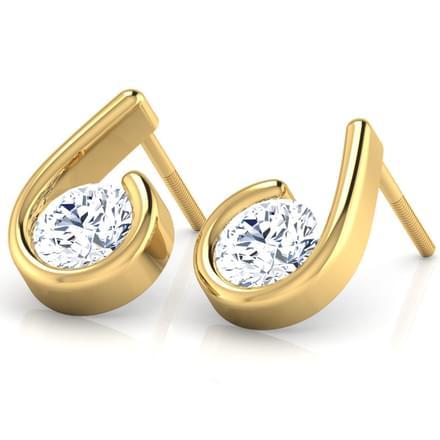 Hook-shaped Stud Earrings